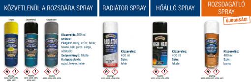 Hammerite Spray választék
